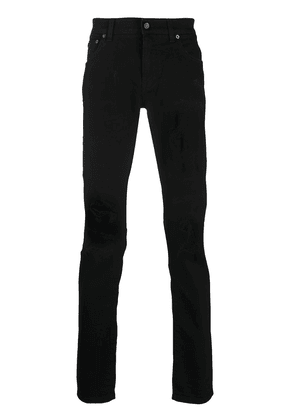 Dolce & Gabbana logo patch pocket jeans - Black