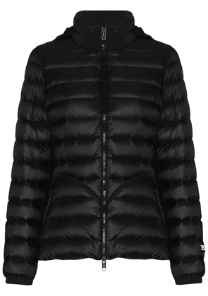Burberry concealed-hood zip-up puffer jacket - Blue