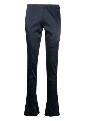 Off-White low-rise flared trousers - Blue