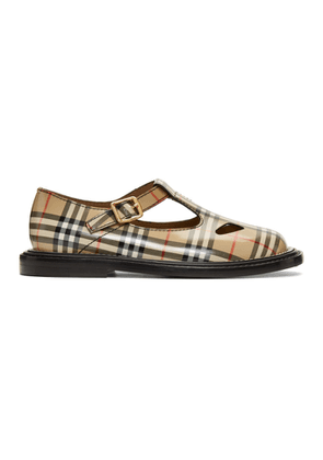 Burberry Beige Hannie T-Bar Shoes