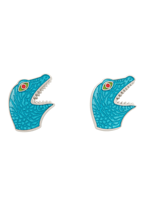 PS by Paul Smith Silver and Blue Dino Cufflinks