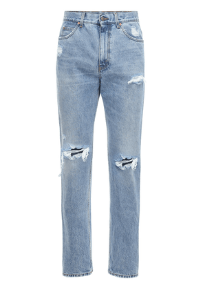 21cm Destroyed Cotton Denim Jeans