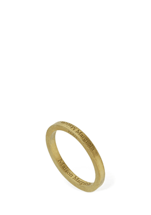 Upside Down Logo Thin Ring