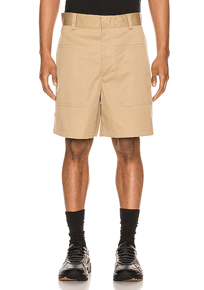 Jil Sander Twill Shorts in Light & Pastel Brown - Neutral. Size 52 (also in ).