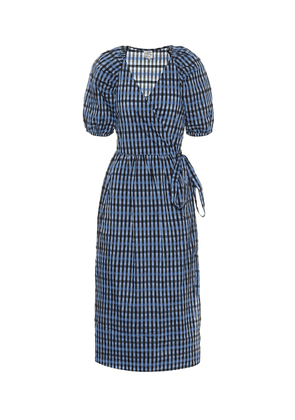 Adalaine gingham wrap dress
