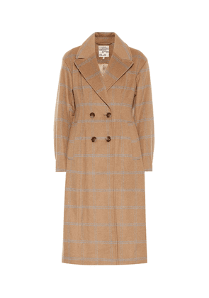 Destiny checked wool-blend coat