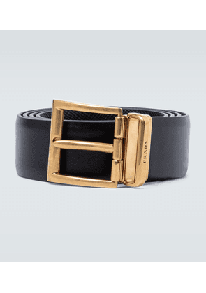 Saffiano leather reversible belt