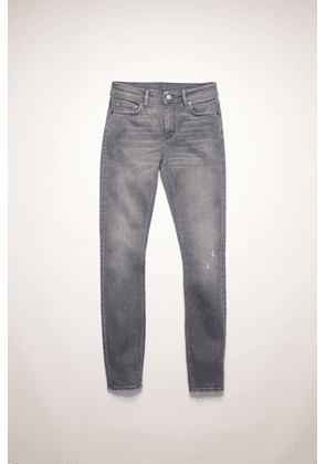 Acne Studios Climb Superstretch Grey Grey Mid-rise skinny jeans