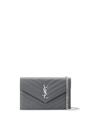 Saint Laurent logo plaque cross body bag - Grey