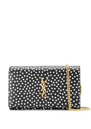 Saint Laurent polka dot purse bag - Black