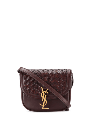 Saint Laurent woven satchel - Brown