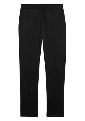 Burberry Straight Fit Wool Tailored Trousers - Black