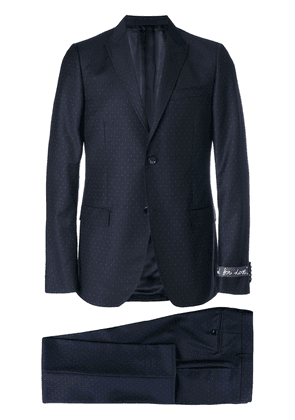 Gucci micro dotted suit - Blue