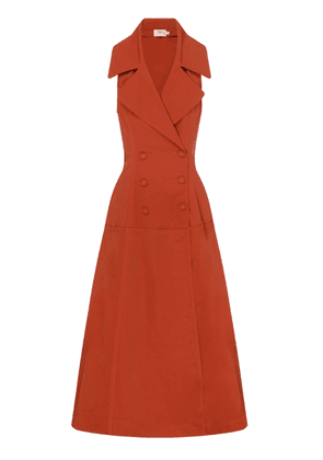 Aje Interlace Tie-Accented Gabardine Trench Coat Dress