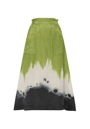 Aje Arcadian Tie-Dyed Linen and Silk-Blend Skirt