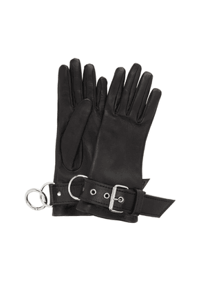 Balenciaga Fetish Silk-Lined Leather Gloves