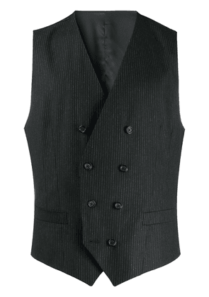 Dolce & Gabbana pinstripe double-breasted waistcoat - Black
