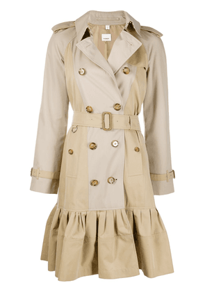 Burberry gathered detail trench coat - Neutrals