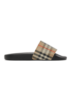 Burberry Beige Check Slides
