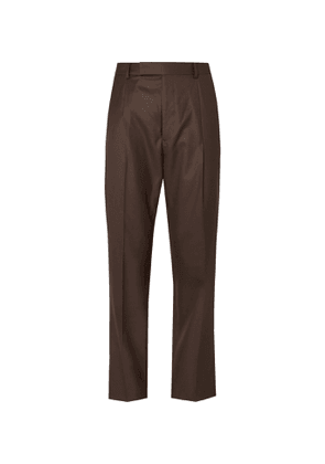 Wacko Maria - Pleated Wool Suit Trousers - Men - Brown