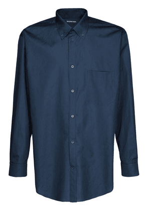 Logo Jacquard Cotton Shirt
