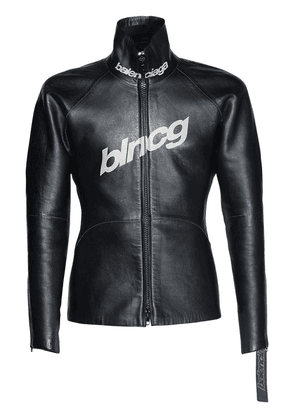 Shiny Leather Scuba Style Jacket