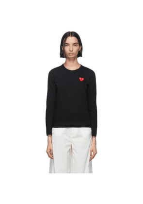 Comme des Garcons Play Black Heart Patch Long Sleeve T-Shirt