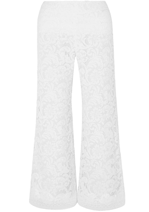 Adam Lippes Cotton-blend Corded Lace Culottes Woman White Size 4