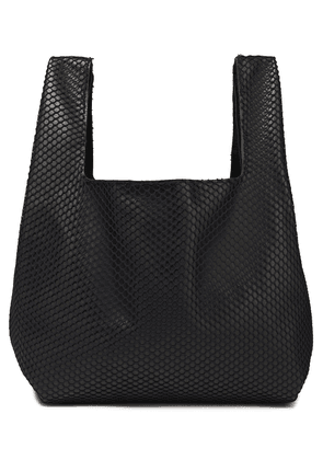 Ann Demeulemeester Layered Mesh And Leather Tote Woman Black Size --