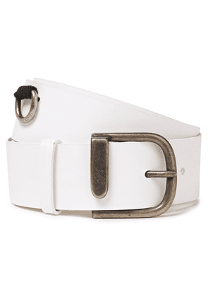 Ann Demeulemeester Leather Belt Woman White Size S