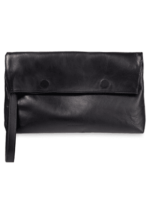 Ann Demeulemeester Leather Clutch Woman Black Size --