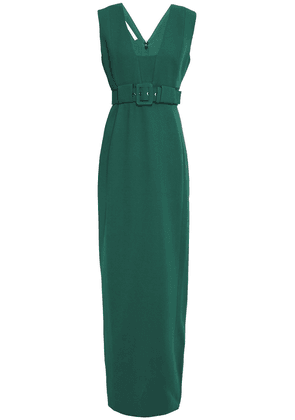 Antonio Berardi Belted Crepe Gown Woman Emerald Size 44