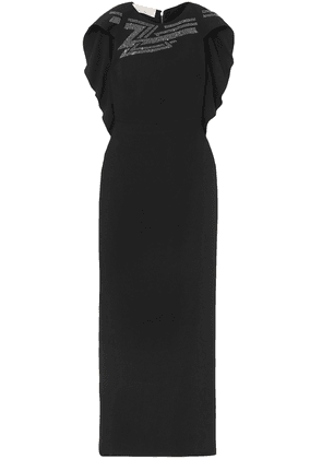 Antonio Berardi Cape-effect Crystal-embellished Crepe Gown Woman Black Size 44