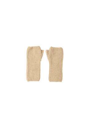 Johnstons Of Elgin Ribbed Womens Cashmere Wristwarmers Natural