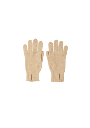 Johnstons Of Elgin Button Loop Womens Cashmere Gloves Natural