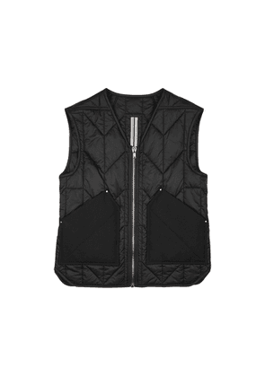 Rick Owens Black Quilted Shell Gilet