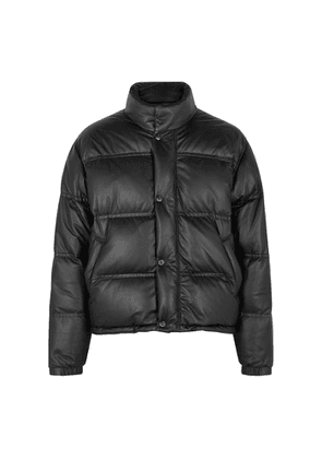 Yves Salomon Black Quilted Leather Jacket
