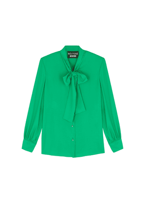 Boutique Moschino Green Crepe Blouse