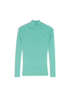 Forte forte Teal Wool And Cashmere-blend Jumper