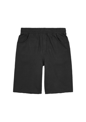 Acne Studios Fide Faded Black Cotton Shorts