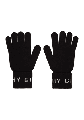 Givenchy Black and White Wool Gloves