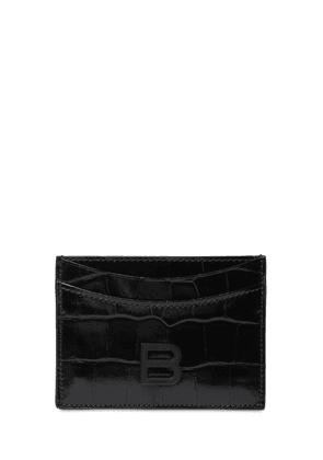 Hour Croc Embossed Leather Card Holder
