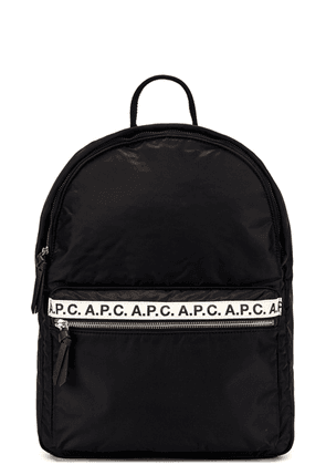 A.P.C. Repeat Backpack in Black - Black. Size all.