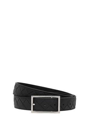 3cm Intrecciato Leather Belt
