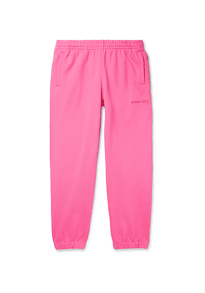 adidas Consortium - Pharrell Williams Embroidered French Cotton-Terry Sweatpants - Men - Pink