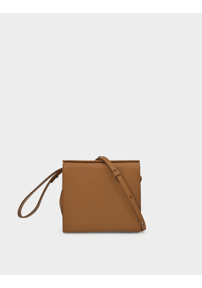 Pouch in Beige Leather