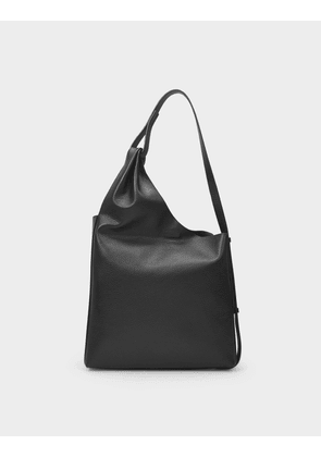 Lune Shopper Bag in Black Leather