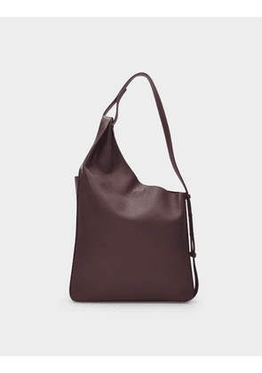 Lune Shopper Bag in Brown Leather