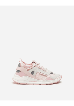 Dolce & Gabbana Shoes (24-38) - CORDONETTO LACE DAYMASTER SNEAKERS PINK