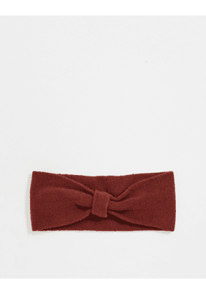 Pieces jarole head band in madder brown